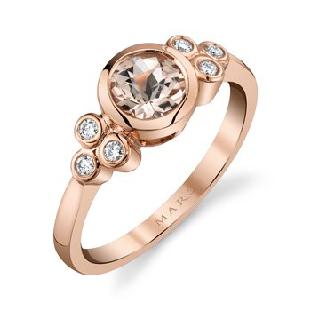 MARS 27254 Fashion Ring, 0.11 Dia. 0.72 Green Am.