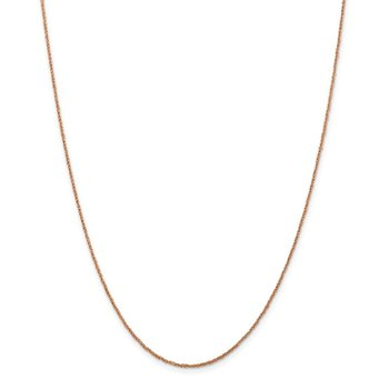 14K Rose Gold 1.1mm Ropa Chain