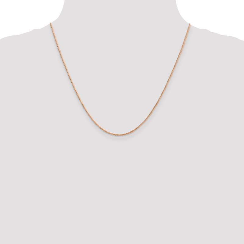 Quality Gold 14K Rose Gold 1.1mm Ropa Chain