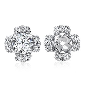 Diamond Earring Jacket in 14K White Gold (0.32 ct. tw.)