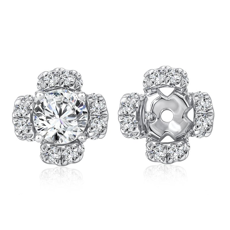 Caro74 Diamond Earring Jacket in 14K White Gold (0.32 ct. tw.)