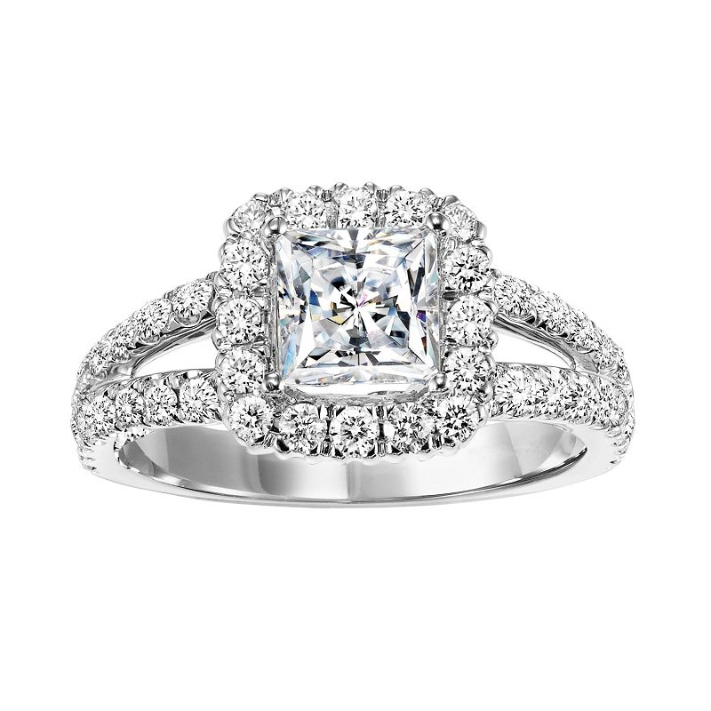 Bridal Bells 14K Diamond Engagement Ring 1 1/7 ctw With 1 1/2 ct Center