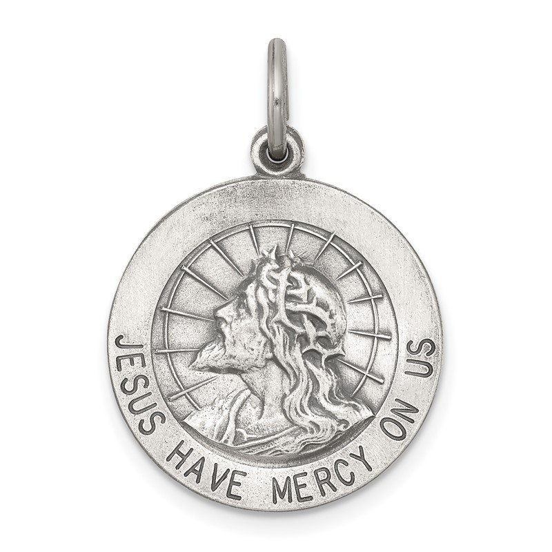 Quality Gold Sterling Silver Jesus Have Mercy Medal
