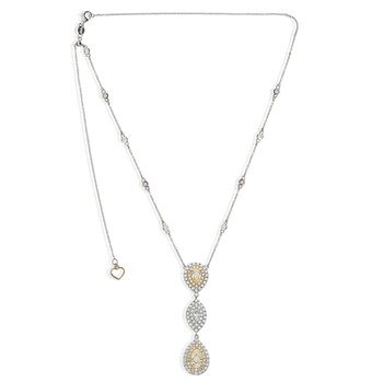 Two Tone Graduated Diamond Necklace