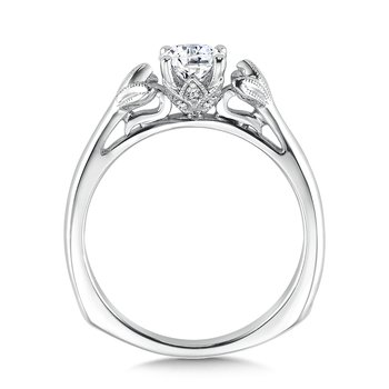 Solitaire mounting .04 tw., 5/8 ct. round center.