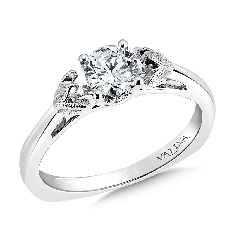 Valina Solitaire mounting .04 tw., 5/8 ct. round center.