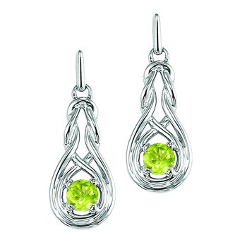 Silver Peridot Earrings (Available In all BirthStones)