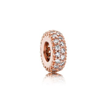 Inspiration Within Spacer, Pandora Rose™ Clear Cz