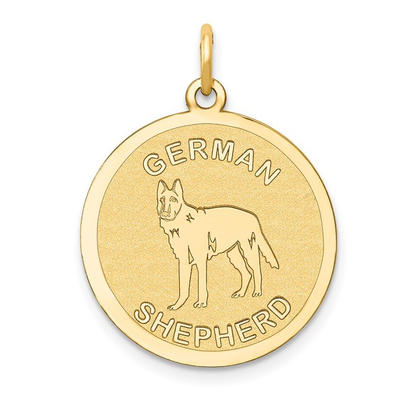 Quality Gold 14k German Shepherd Disc Charm