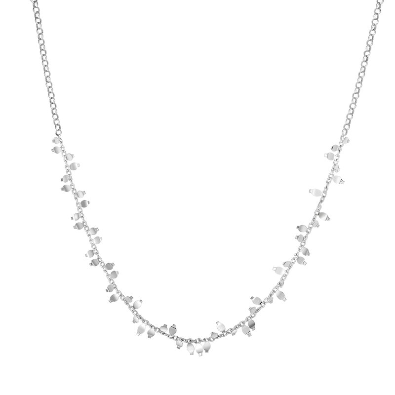 Royal Chain Silver Flora Necklace