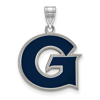 Sterling Silver Georgetown University NCAA Pendant