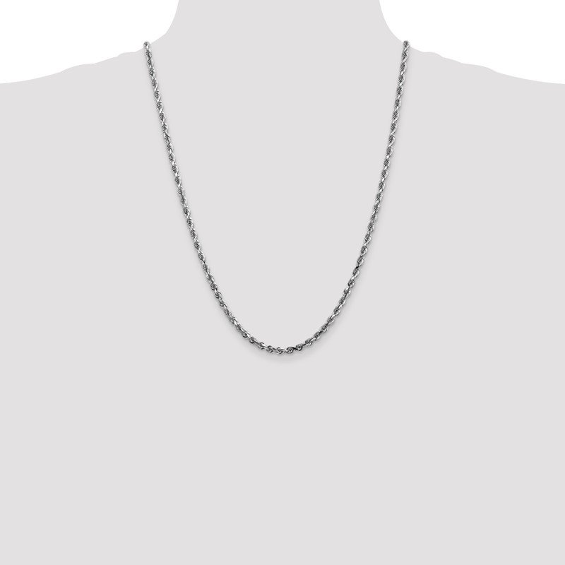 Quality Gold 14k White Gold 4mm D/C Quadruple Rope Chain