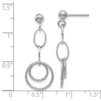 Leslie's 10K White Gold Post Dangle Earrings