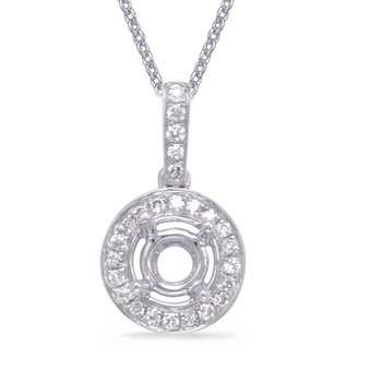 Diamond Pendant For.33ct Round Stone