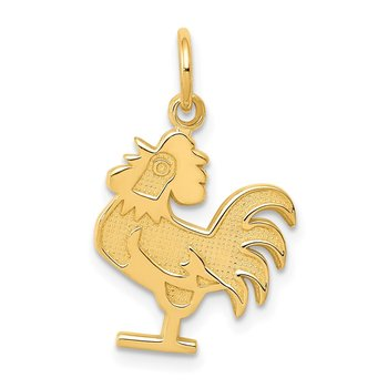 14k Rooster Charm