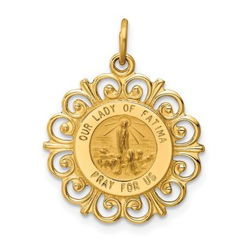 14k Our Lady of Fatima Medal Pendant