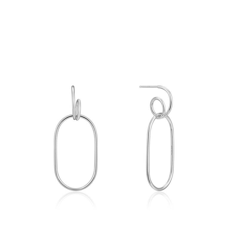 Ania Haie Spiral Oval Hoop Earrings