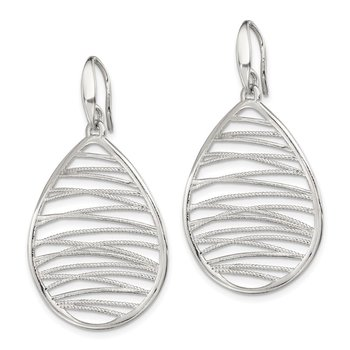 Sterling Silver Polished and Textured Earrings