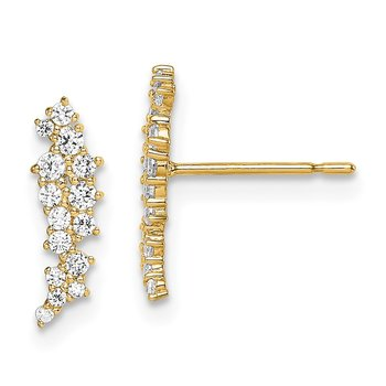 14k Madi K CZ Cluster Post Earrings