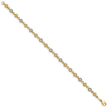 14K Two-tone Fancy Bracelet