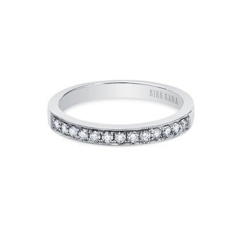 Classic Milgrain Diamond Wedding Band