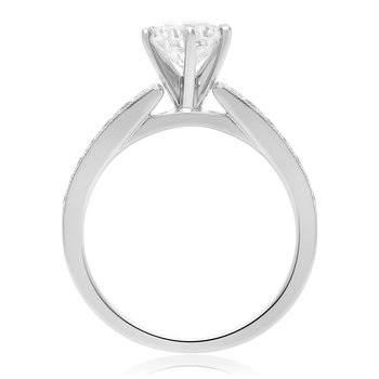 Tapered White Gold Engagement Setting
