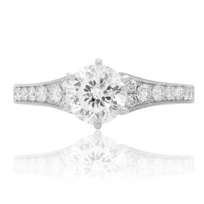 Roman & Jules Tapered White Gold Engagement Setting
