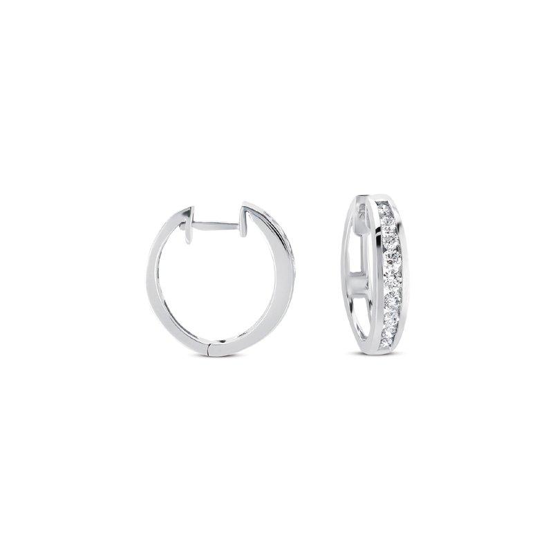 S Kashi Sons Diamond Huggie Earring