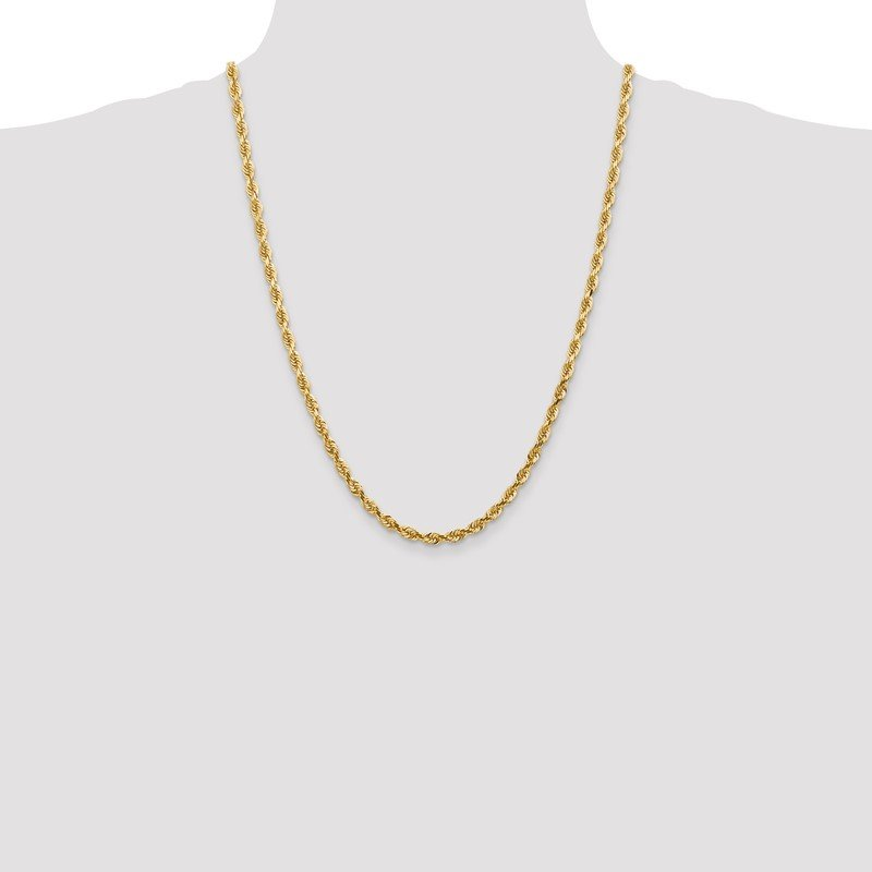 Quality Gold 14k 4.5mm D/C Quadruple Rope Chain