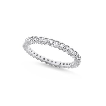 Diamond Stack Ring in 14K White Gold with 34 Diamonds Weighing .40ct tw