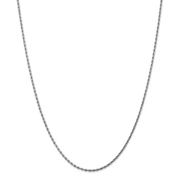 14k White Gold 1.75mm D/C Rope Chain Anklet
