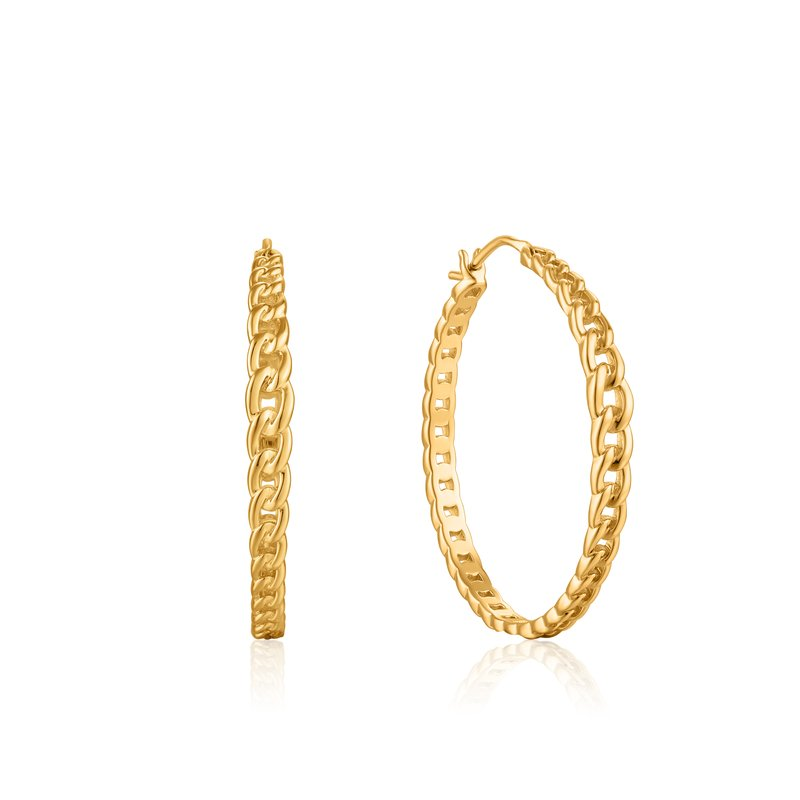 Ania Haie Curb Chain Hoop Earrings