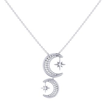 Twin Nights Necklace in Sterling Silver