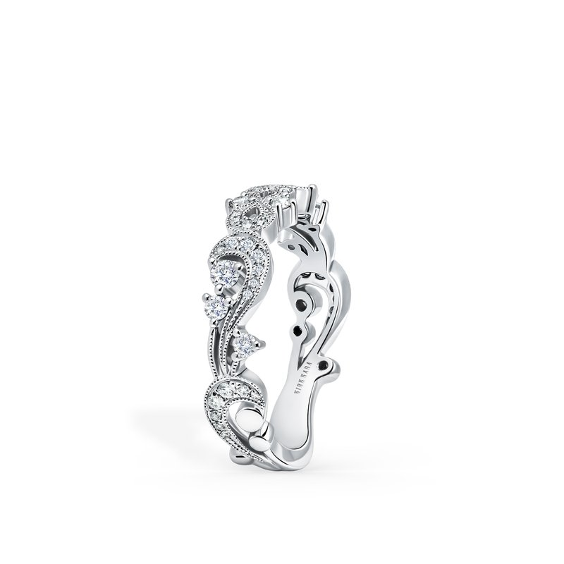 Romantic Waves Diamond Wedding Band