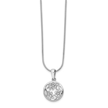 SS White Ice Diamond Flower Necklace