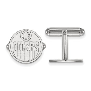 Sterling Silver Edmonton Oilers NHL Cuff Links