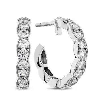 0.8 ctw. Lorelei Floral Hoop Earrings