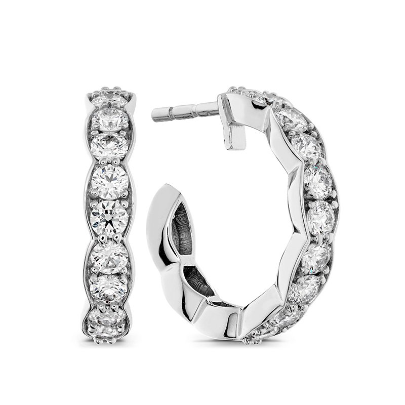 Hearts on Fire Lorelei Floral Hoop Earrings