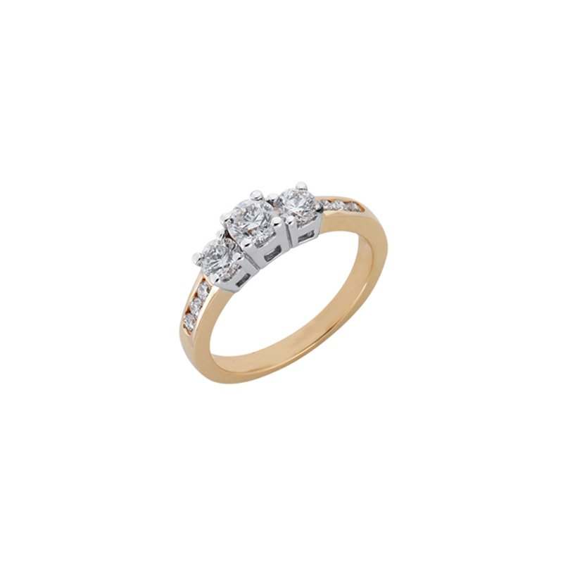 S. Kashi  & Sons Designer Three Stone Ring