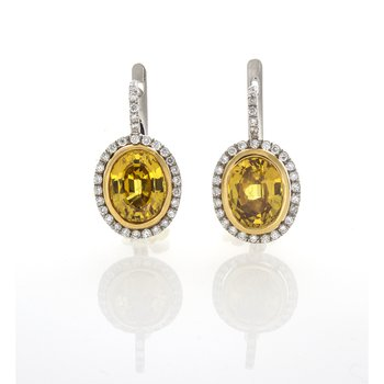 OVAL YELLOW SAPPHIRE & DIAMONDS