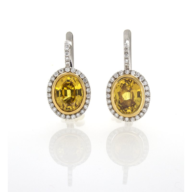 William Levine OVAL YELLOW SAPPHIRE & DIAMONDS