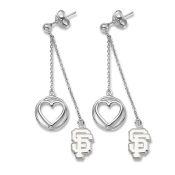 Sterling Silver San Francisco Giants MLB Earrings