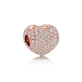 Pavé Open My Heart, Pandora Rose™ Clear Cz