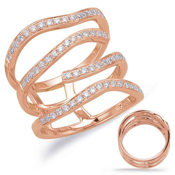 Rose Gold Diamond Fashion Ring