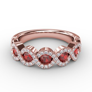 Hold Me Close Ruby and Diamond Twist Ring