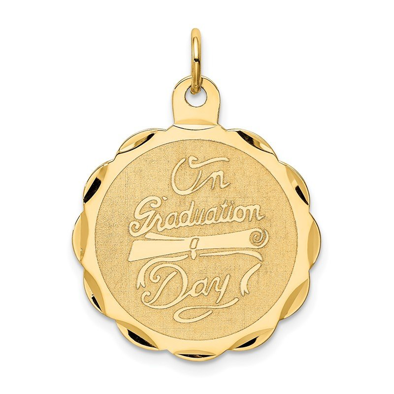 Quality Gold 14k ON GRADUATION DAY with Diploma Charm
