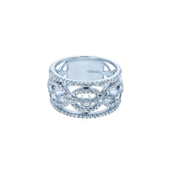White Alloy Cubic Zirconia Fashion Ladies Ring