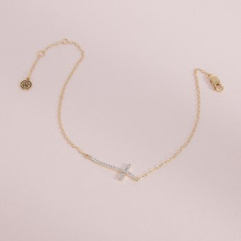 Criss Cross Gold Bracelet