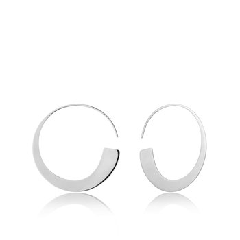 Geometry Slim Hoop Earrings