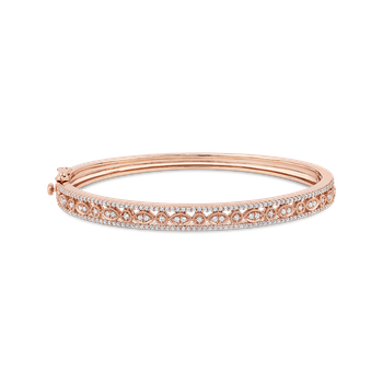 1 ct Round White Diamond Bangle Bracelet
